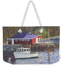 New Harbor Sunrise Weekender Tote Bag