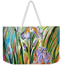 New Irises Weekender Tote Bag