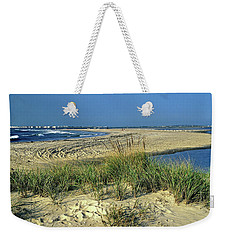Weekender Tote Bag featuring the photograph New Jersey Inlet  by Sally Weigand