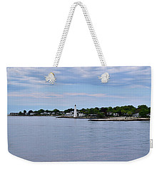 New London Harbor Lighthouse Weekender Tote Bag