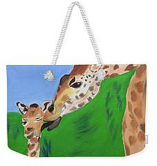 Awww Gee Mom  Weekender Tote Bag by Meryl Goudey