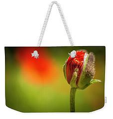 New Orange Poppy Bloom Weekender Tote Bag