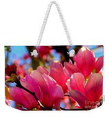 New Orleans In The Dead Of Winter Spring Japanese Magnolias Weekender Tote Bag by Michael Hoard