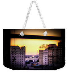 Weekender Tote Bag featuring the photograph New Orleans Window Sunrise by Jim Albritton