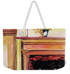 New Painting Over The Mantel Weekender Tote Bag