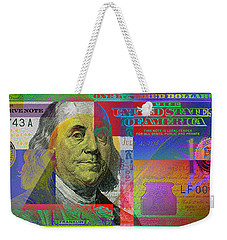 New Pop-colorized One Hundred Us Dollar Bill Weekender Tote Bag