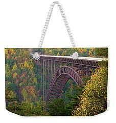 New River Gorge Bridge Weekender Tote Bag by Steve Stuller