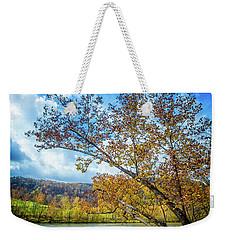 New River In Fall Weekender Tote Bag
