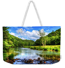 New River Summer Weekender Tote Bag by Dale R Carlson