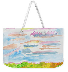 Strawberry Skies Watching Weekender Tote Bag
