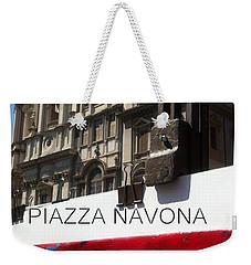 new work Piazza Navona Weekender Tote Bag