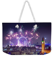 New Year Fireworks London Weekender Tote Bag