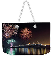 New Years With The Queen Mary Weekender Tote Bag