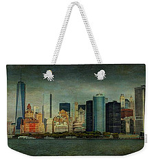 Weekender Tote Bag featuring the mixed media New York After Storm by Dan Haraga