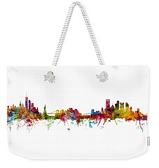 New York And Pittsburgh Skyline Mashup Weekender Tote Bag