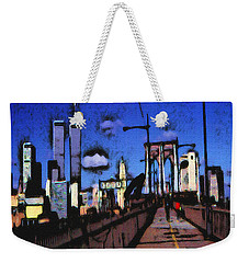 New York Blue - Modern Art Weekender Tote Bag