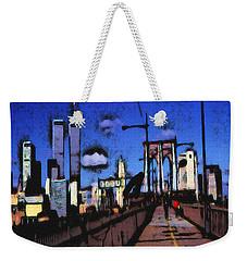 New York Blue - Modern Art Weekender Tote Bag