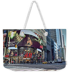 New York City - Broadway And 42nd St Weekender Tote Bag