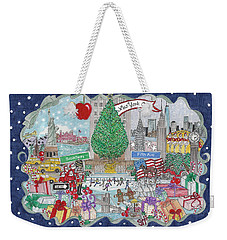 New York City Holiday Weekender Tote Bag