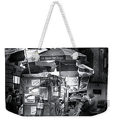 New York City Hot Dog Stand Weekender Tote Bag by Mark Andrew Thomas
