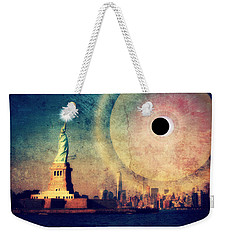 New York City Solar Eclipse 2017 II Weekender Tote Bag