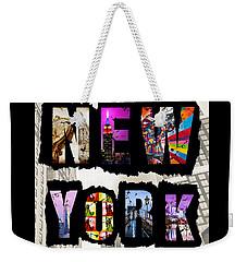New York City Text Weekender Tote Bag