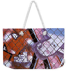 New York Graffiti Abstract Cities Photograph - New York New York Weekender Tote Bag