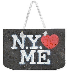 New York Loves Me Stencil Weekender Tote Bag