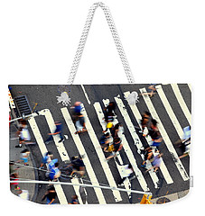 New York Minute Weekender Tote Bag by David Gilbert