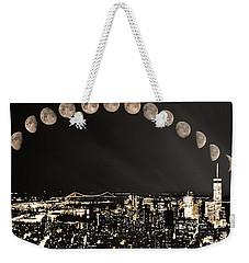 New York Minute Moons Weekender Tote Bag
