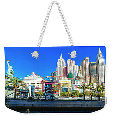 New York New York Casino From The East  2 To 1 Ratio Weekender Tote Bag by Aloha Art
