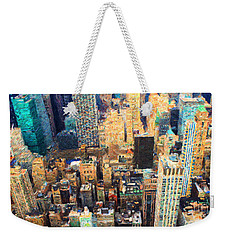 Weekender Tote Bag featuring the painting New York, New York by Chris Armytage