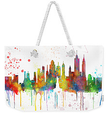 New York Ny Skyline Weekender Tote Bag by Marlene Watson