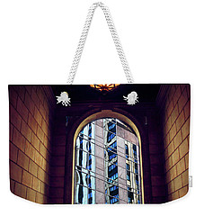 Weekender Tote Bag featuring the photograph New York Perspective by Jessica Jenney