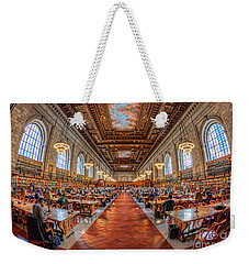 New York Public Library Main Reading Room I Weekender Tote Bag by Clarence Holmes