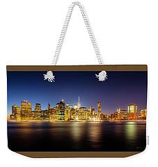 New York Skyline Weekender Tote Bag by Marvin Spates