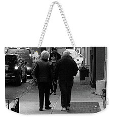 Weekender Tote Bag featuring the photograph New York Street Photography 75 by Frank Romeo