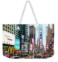 New York Times Square Panorama Weekender Tote Bag