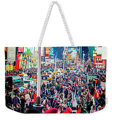 New York Times Square Weekender Tote Bag