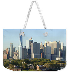 New York View From Brooklyn Harbor Weekender Tote Bag