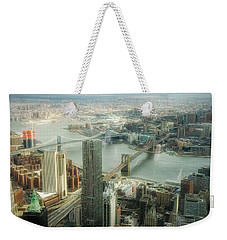 New York View Of East River Weekender Tote Bag