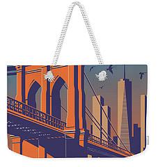 New York Vintage Travel Poster Weekender Tote Bag