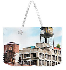 Weekender Tote Bag featuring the photograph New York Water Towers 18 - Greenpoint Water Tower by Gary Heller