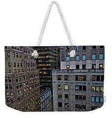 New York Windows Weekender Tote Bag by Joan Reese