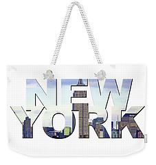 New York Word Art Weekender Tote Bag