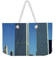 New York World Trade Center Before 911 - Architecture Weekender Tote Bag by Art America Gallery Peter Potter