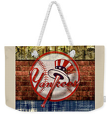 New York Yankees Top Hat Brick 2 Weekender Tote Bag