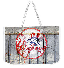 New York Yankees Top Hat Rustic 2 Weekender Tote Bag
