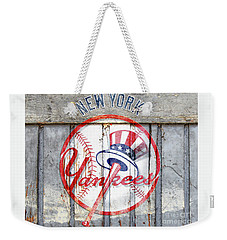 New York Yankees Top Hat Rustic Weekender Tote Bag