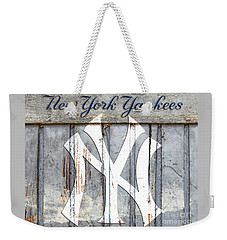 New York Yankees Rustic Weekender Tote Bag